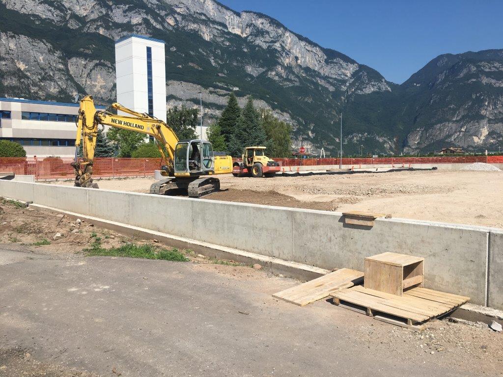 Realizzazione area attrezzata per sosta mezzi pesanti a Lavis